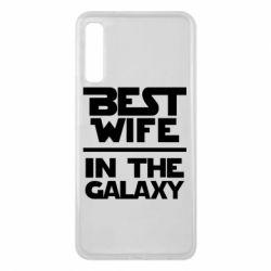 Чехол для Samsung A7 2018 Best wife in the Galaxy