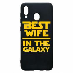 Чехол для Samsung A30 Best wife in the Galaxy