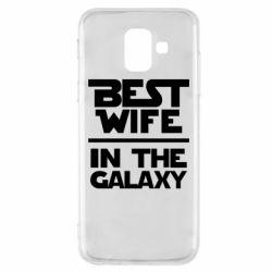 Чехол для Samsung A6 2018 Best wife in the Galaxy