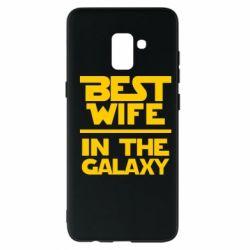 Чехол для Samsung A8+ 2018 Best wife in the Galaxy