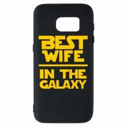 Чехол для Samsung S7 Best wife in the Galaxy
