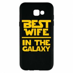 Чехол для Samsung A7 2017 Best wife in the Galaxy
