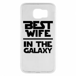 Чехол для Samsung S6 Best wife in the Galaxy