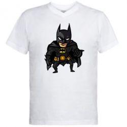 Мужская футболка  с V-образным вырезом Бэтмен Арт