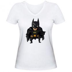 Женская футболка с V-образным вырезом Бэтмен Арт