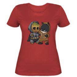 Женская футболка Бэтмен и грут