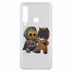 Чехол для Samsung A9 2018 Бэтмен и грут