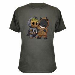 Камуфляжная футболка Бэтмен и грут