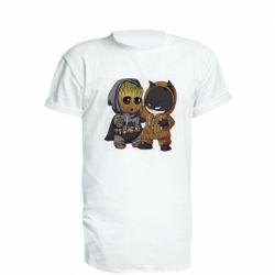 Удлиненная футболка Бэтмен и грут