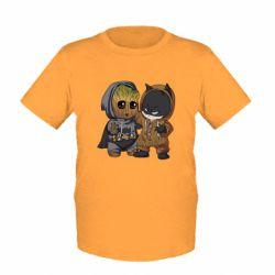 Детская футболка Бэтмен и грут