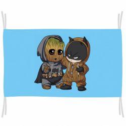 Флаг Бэтмен и грут