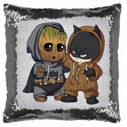 Подушка-хамелеон Бэтмен и грут