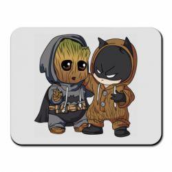 Коврик для мыши Бэтмен и грут