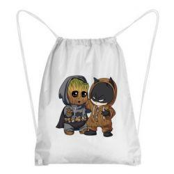 Рюкзак-мешок Бэтмен и грут