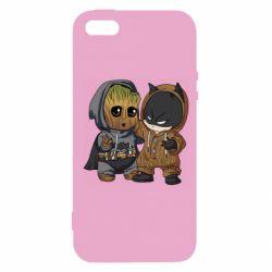 Чехол для iPhone5/5S/SE Бэтмен и грут