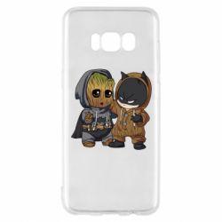 Чехол для Samsung S8 Бэтмен и грут