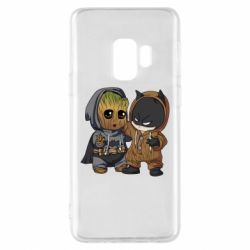 Чехол для Samsung S9 Бэтмен и грут