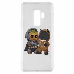 Чехол для Samsung S9+ Бэтмен и грут