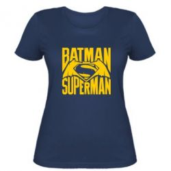 Женская футболка Бэтмен vs. Супермен