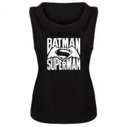 Женская майка Бэтмен vs. Супермен