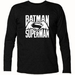Футболка с длинным рукавом Бэтмен vs. Супермен - FatLine