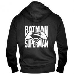 Мужская толстовка на молнии Бэтмен vs. Супермен - FatLine