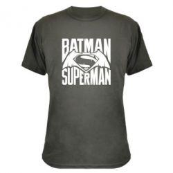Камуфляжная футболка Бэтмен vs. Супермен - FatLine