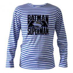 Тельняшка с длинным рукавом Бэтмен vs. Супермен - FatLine