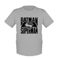 Детская футболка Бэтмен vs. Супермен