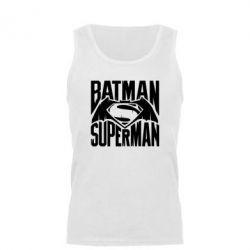 Мужская майка Бэтмен vs. Супермен - FatLine