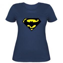 Женская футболка БэтСупермен - FatLine
