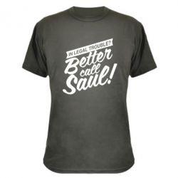 Камуфляжная футболка Better call Saul! - FatLine