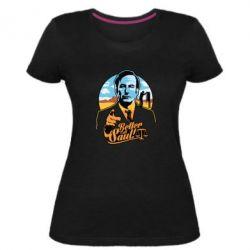 Купить Во все тяжкие, Женская стрейчевая футболка Better Call Saul!, FatLine