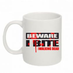 Кружка 320ml Beware I BITE (Walking dead)