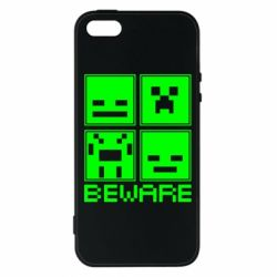 Чохол для iphone 5/5S/SE Beware Minecraft