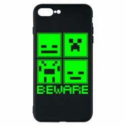 Чохол для iPhone 7 Plus Beware Minecraft