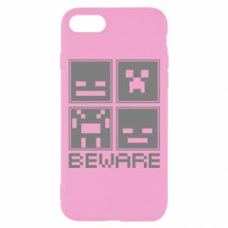 Чохол для iPhone 8 Beware Minecraft