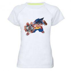 Жіноча спортивна футболка Бейблейд