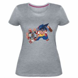 Жіноча стрейчева футболка Бейблейд