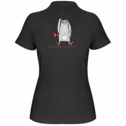 Женская футболка поло Без эспрессо я в депресо