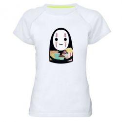 Жіноча спортивна футболка Безликий з вкусняшками