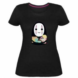 Жіноча стрейчева футболка Безликий з вкусняшками