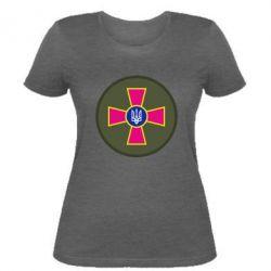 Женская футболка Безпека Військової Служби