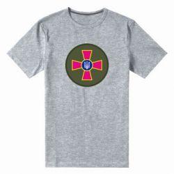 Мужская стрейчевая футболка Безпека Військової Служби