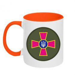 Кружка двухцветная 320ml Безпека Військової Служби