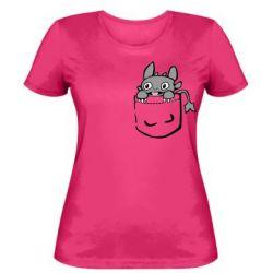 Жіноча футболка Беззубик в кишені