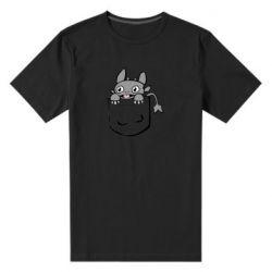 Чоловіча стрейчева футболка Беззубик в кишені