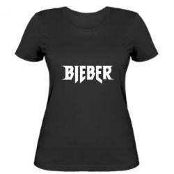 Женская футболка Bieber