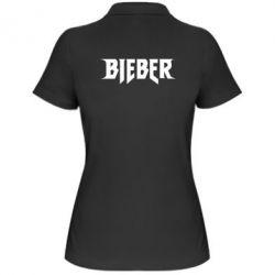 Женская футболка поло Bieber