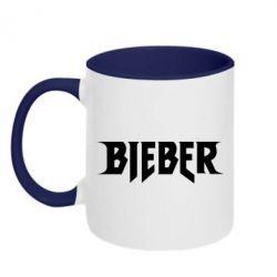 Кружка двухцветная 320ml Bieber